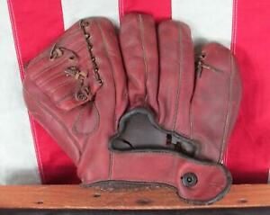 Vintage 1950s Sonnett Leather Baseball Glove Fielders Mitt Barney McCosky Model