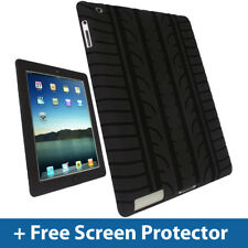 Black Tyre Skin Case for Apple iPad 2, 3 & New iPad 4 with Retina Display Cover