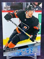 2020-21 Upper Deck Series 2 David Kase Young Guns Rookie #493 Flyers