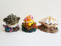 Aquarium Ornaments Air Action Nemo, Clam, Puffer Air Pump Bubble Decor Fish Tank
