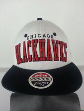 Chicago Blackhawks NHL Hockey White Black Snapback Zephyr Cap Hat