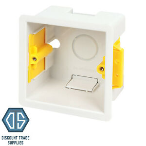 Appleby SB632 47mm Single Dry Lining Fast Fix Box 1 Gang Plasterboard Back Box