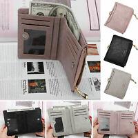Fashion Women Zipper Soft Wallet Fashion Lady Solid Coin Pocket Purse Clutch Bag