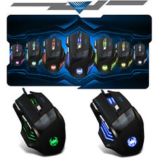 5500DPI 8D MASTER T80 Pro Optical 7 Buttons Usb Gaming Mouse LOL RAZER WOW CF UK
