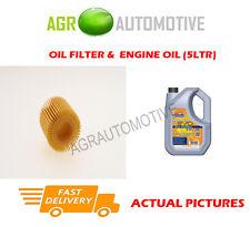 HYBRID OIL FILTER + LL 5W30 ENGINE OIL FOR TOYOTA AURIS 1.8 99 BHP 2012-
