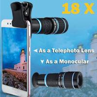 HD Mobile Phones Camera Lens 18X Telescope Zoom Phone Telephoto Lens Monocular