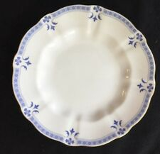 "Royal Crown Derby GRENVILLE 8-1/2"" Dessert/Salad Plate Blue on White Gold Trim"