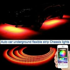 4X APP Control RGB Flow LED Car Tube Strip Underglow Body Neon Light Kit Decors
