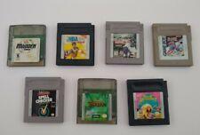 Lot of 7 GameBoy Games Original Nintendo TESTED Working Great Tarzan & Sports