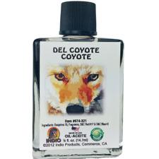 Coyote, Del Coyote Oil Indio Products 1/2 oz Spiritual Oil Wicca Santeria Magick