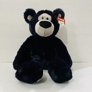 "Gund Indigo 4059110 Stuffed Black Teddy Bear Plush Animal 17"""