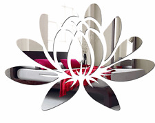 Large decorative acrylic wall mirror decoration WATER LILY, 35x50cm, Bedroom