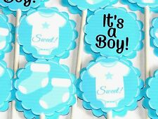 15 BABY BOY Cupcake Toppers Birthday Party Favors, Baby Shower decoration 15