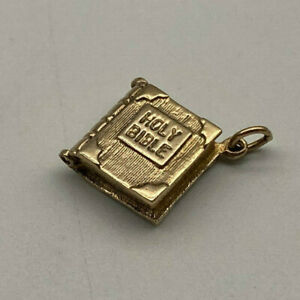 Vintage 9ct Gold Hallmarked The Lords Prayer Bible Charm.  Goldmine Jewellers.
