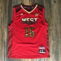 Adidas NBA LA Lakers Pau Gasol #16 West 2011 All Star Game Jersey Youth L Or Sm
