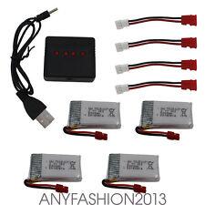4pcs 3.7V 500mAh Lipo batteria ricambio caricabatterie per Syma X5HC X5HW Drone
