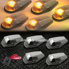 FOR 80-96 F-SERIES PICKUP 5PCS BLACK YELLOW LED CAB ROOF RUNNING LIGHTS+SWITCH