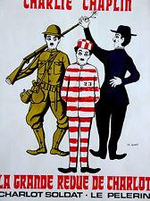 La Grande Revue de Charlot•Chaplin•Leo Kouper Art•Original Fr Movie Poster 24x32