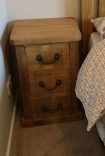 Rustic Pine Bedside Cabinet 3 drawers (can be made any size)