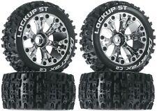 Duratrax Mounted Lockup ST Tires Wheels 4 Nitro Jato Stampde Rustler Front Rear
