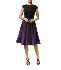 TED BAKER black purple ombre print fit&flare full skirt midi evening dress 2 10
