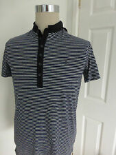 BNWT All Saints Baltis Stripe Saints Polo Shirt Henley Top  size S