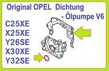 Opel C25XE,X25XE,X30XE Dichtung Ölpumpe + Wellendichtring Kurbelwelle