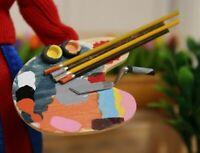 Dolls House Miniature 1/12th Scale Artists Palette Set OA135