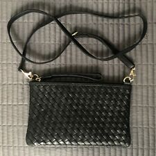 Unused Oasis Leather Clutch Bag With Detachable Shoulder Strap