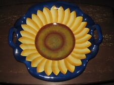 "PURE ART CAROL ENDRES 14"" DECORATIVE SUNFLOWER BOWL / DISH -- FREE SHIPPING!!!"