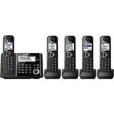 Panasonic 5 Handsets Cordless Portable Phone with Answering Machine Telephone