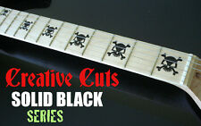 Skull BLACK Fretboard Marker Vinyl Inlay Sticker Decal for Maple Neck OLP GUITAR