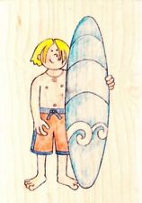 SURFER BOY - Jolly Nation - Wood Mounted Rubber Stamp