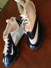 New Nike Size 18 High Football Cleats 511334-113 Superbad White & Navy Blue Dark