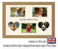 Auntie & Uncle Double Mount  Love You  Photo Frame 6 x 4 photos