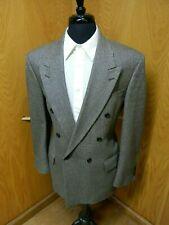 Mens Blazer Sport coat Jacket Oscar De La Renta 42r Black Gray Houndstooth S#107