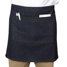 100% Cotton Denim Half Bar Waiter Apron With Pockets