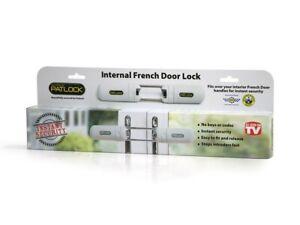 Patlock Patio Conservatory French Double Door Extra Security Instant Dead Lock