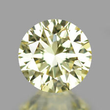 0.16 Carat NATURAL Very LIGHT YELLOW DIAMOND LOOSE for Setting Round (EYE CLEAN)
