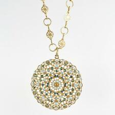 Catherine Popesco Filigree Medallion 'Pacific Opal' Crystal Pendant Necklace