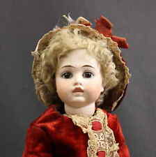 SPLENDID  ANTIQUE  GERMAN (CLOSED MOUTH) BISQUE  DOLL with 'BRU' LOOK
