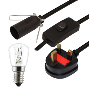 Salt Lamp Cable 1x 15 Watt Bulb Pygmy Replacement B Lead Cord Set UK 3 Pin Plug