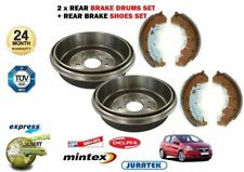 FOR VAUXHALL OPEL CORSA D 1.2 1.4 2006-2011 NEW 2 X REAR BRAKE DRUM + SHOES SET