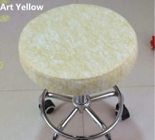 "5Pcs 14"" Bar Stool Cover Round Chair Seat Cover Cushion Sleeve Art Yellow Dental"