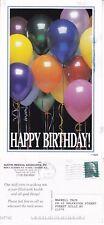 2000's HAPPY BIRTHDAY BALLOONS COLOUR ADVERTISING POSTCARD