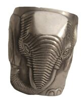 "Cast Aluminum Planter Elephant Shape 5.5"" Tall x 4.5"" Diameter"