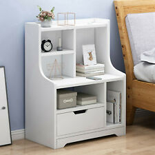Modern Nightstand Bedside End Table Storage Cabinet w/ Drawer Bedroom Furniture
