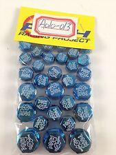 30 Piece Blue Plastic Bolt Screw Decorative Caps Motorcycle Honda