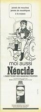 Publicité Advertising 089  1963  Néocide   insecticide