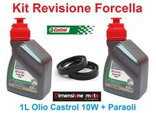 100 -Kit Castrol Fork Oil 10W +Paraoli x Forcella YAMAHA YP 250 Majesty dal 1996